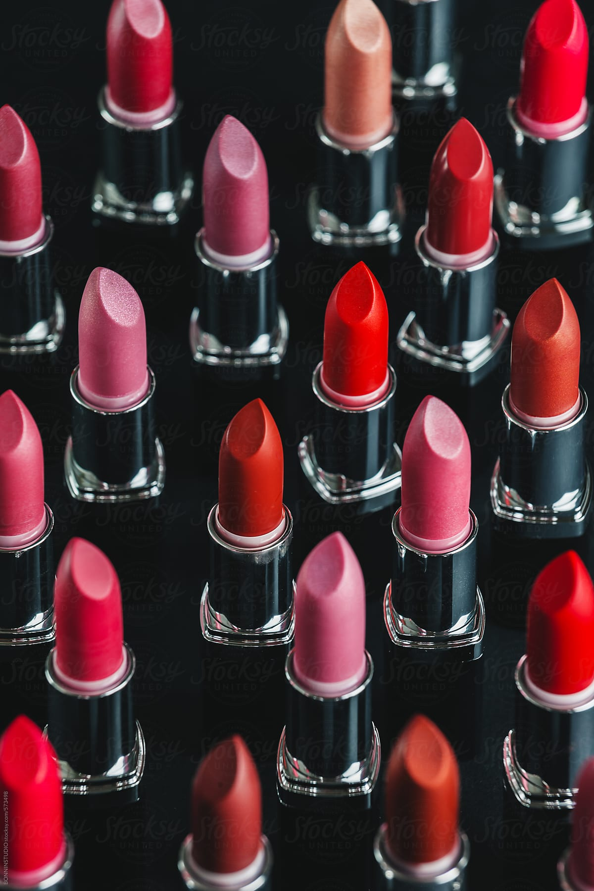 stock photo lipstick on