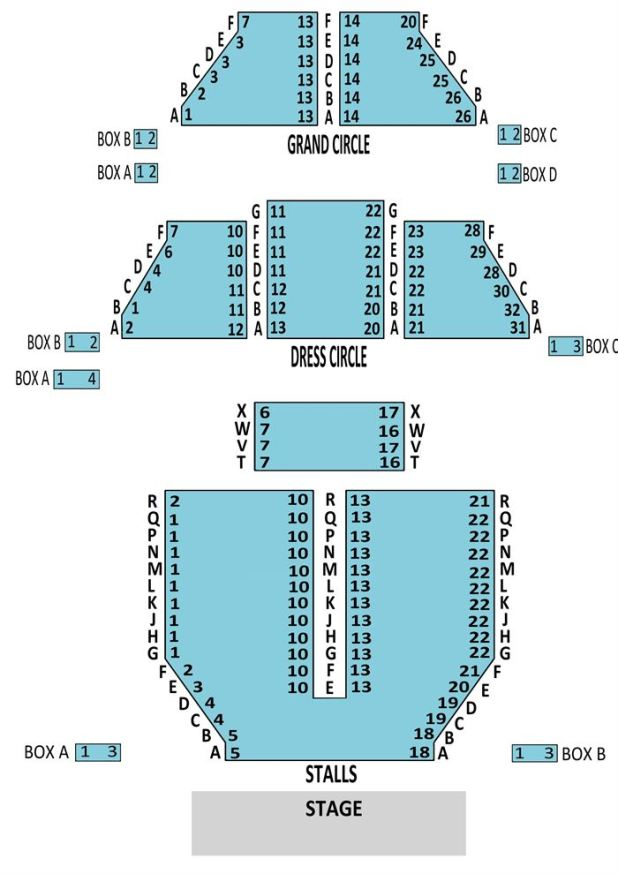 Apollo Theatre London Seating Plan Grand Circle