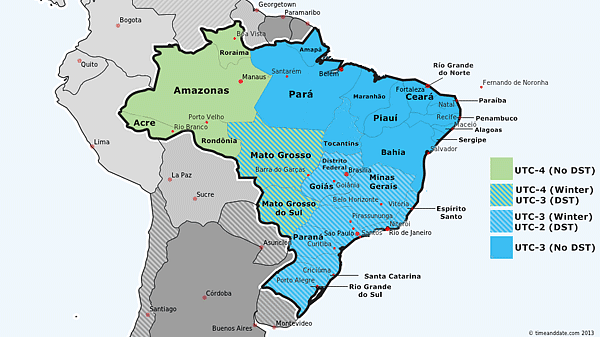 Most of Brazil starts DST on October 20
