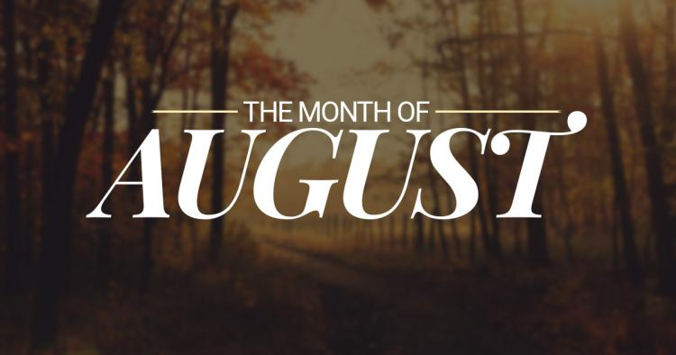 August – eighth month of the year