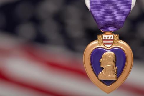 The purple heart medal is awarded to those who were wounded or killed while serving the US military.