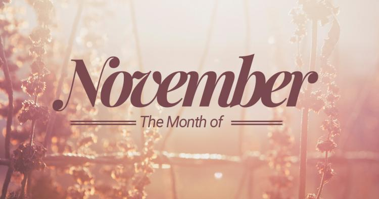 November – 11th month of the year