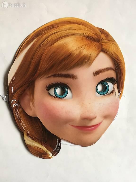 Frozen Eisknigin Masken Partymasken Anna und Elsa in