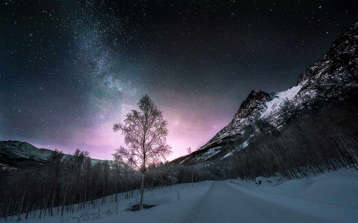 Snow Falling At Night Wallpaper Wallpaper Landscape Forest Mountains Nature Snow