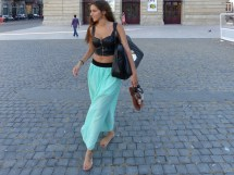 Barefoot Women in Spring Dress