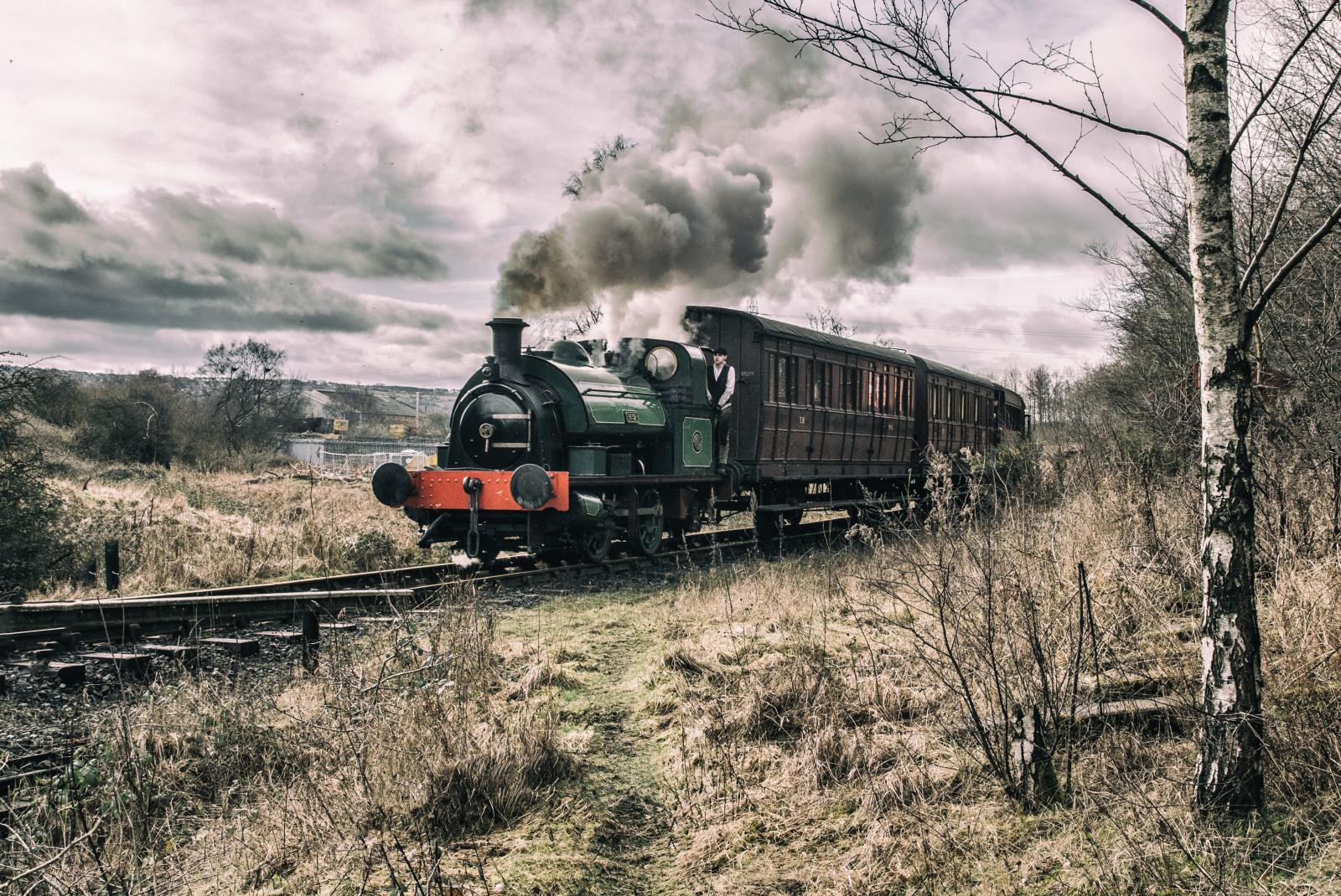 Sfondi  paesaggio veicolo treno ferrovia industriale locomotiva Leslie albero treni motore a vapore pianta traccia carbone area