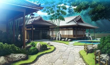 manga maison villa mansion japan landscape backyard pool paysage estate anime property residential traditionnelle hd et wallpapers