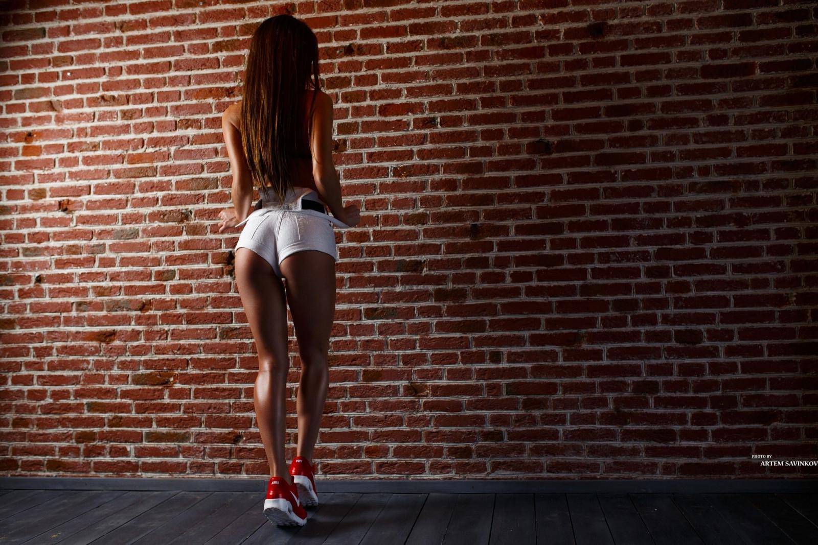 Girl Leg Wallpaper Wallpaper White Black Women Model Ass Red Wall