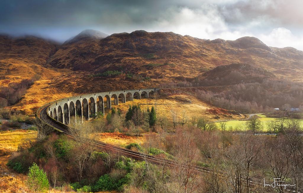 Fall Harry Potter Wallpaper Wallpaper Glenfinnan Viaduct Landscape Mountains