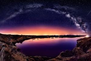 Wallpaper  pemandangan teluk galaksi air ruang