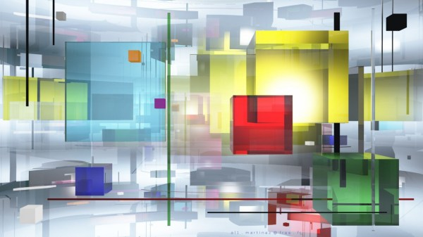 3D Colorful Cube Abstract