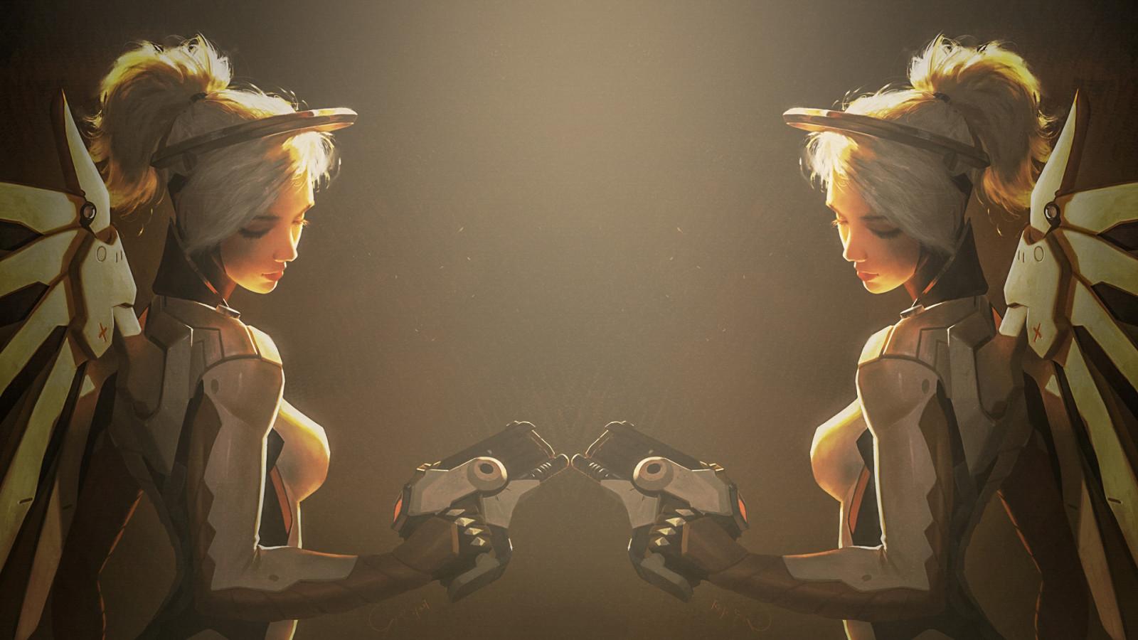 Camera Girl Photography Wallpaper Wallpaper Video Games Mercy Overwatch 1920x1080
