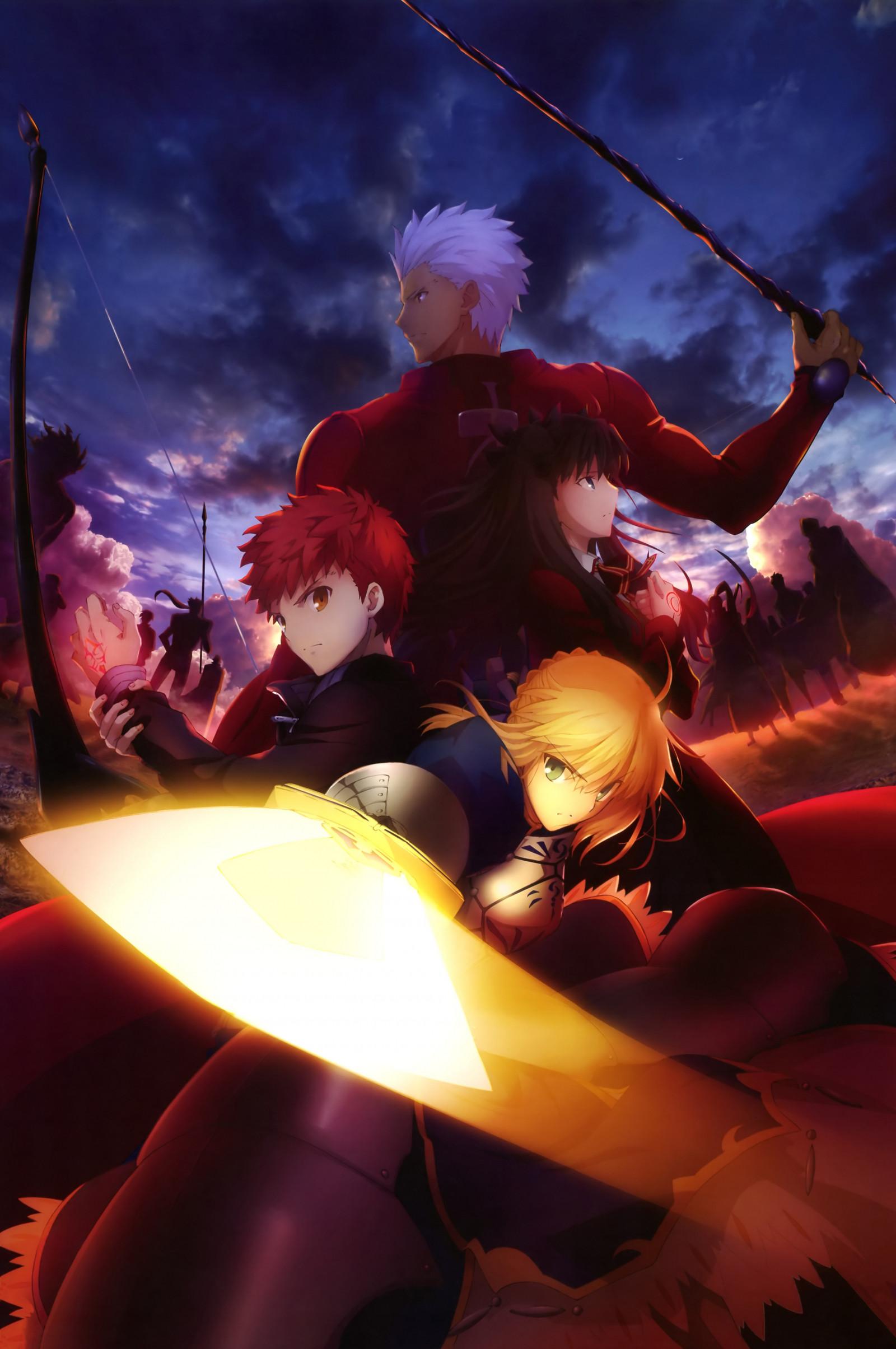 Wallpaper : illustration. anime. Fate Stay Night. Saber. Fate Series. Tohsaka Rin. Shirou Emiya. screenshot. computer wallpaper. fictional ...