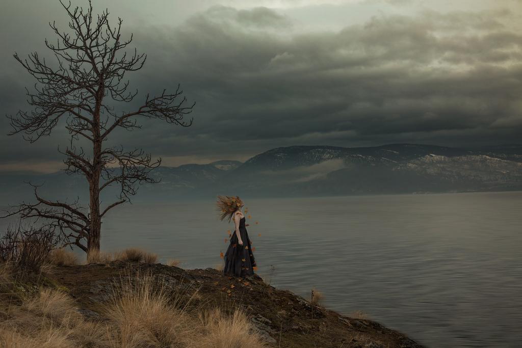 Girl In Sad Mood Wallpaper Wallpaper Sunlight Landscape Leaves Women Sunset
