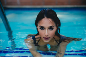 Tianna Gregory Hd Wallpaper Wallpaper Sports Swimming Pool Topless Bikini Boobs