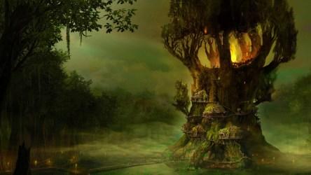 tree village elves hd forest elf gothic fantasy wallpapers arcania trees swamp mist autumn nature rainforest woodland desktop natural fairy