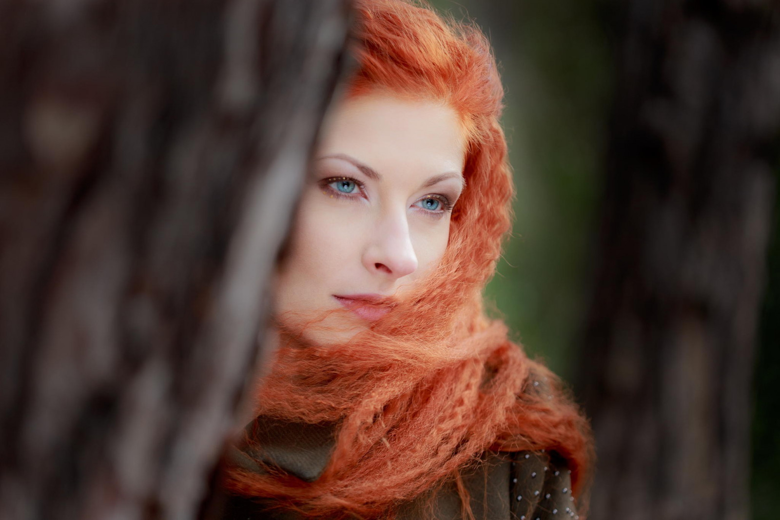 Cute Long Hair Girl Wallpaper Wallpaper Face Women Outdoors Redhead Model Depth Of