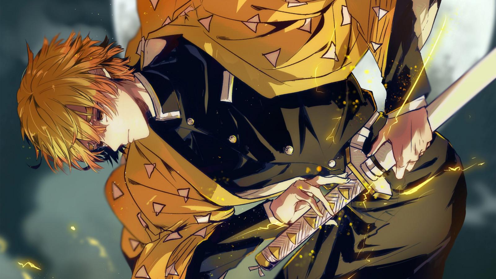 Wallpaper abyss anime demon slayer: Wallpaper : Kimetsu no Yaiba, Zenitsu Agatsuma, anime ...