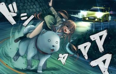 anime aho dog yoshiko mouth open hanabatake ass wallhere wallpapers wallpapersafari