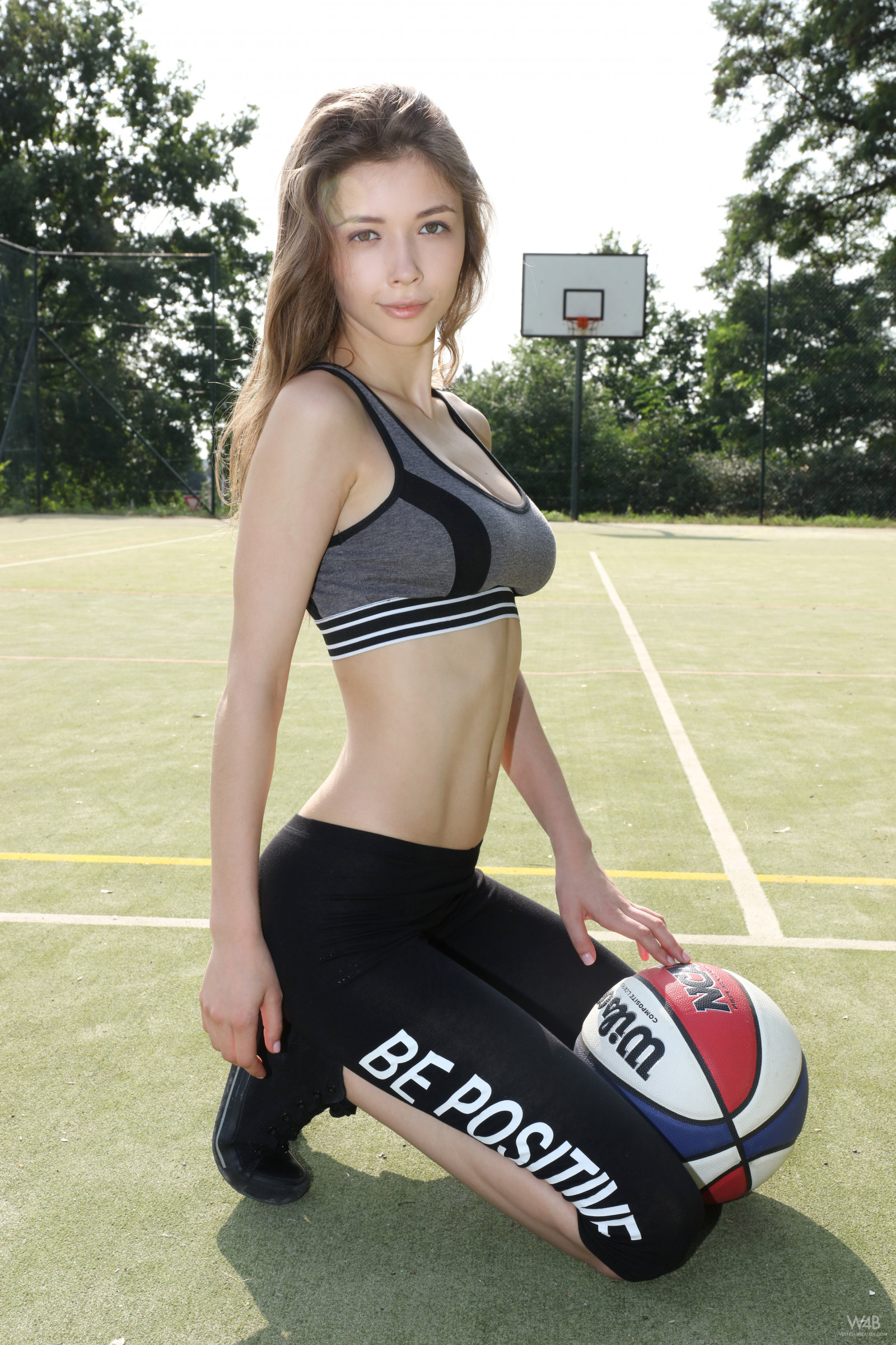 Girl With Camera Hd Wallpaper Wallpaper Mila Azul Model Basketball Sportswear
