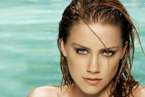 Anime Girl Looking At Sky Wallpaper Wallpaper Amber Heard Actress Blonde Swimming Pool