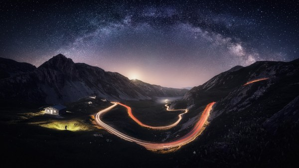 Wallpaper Landscape Lights Mountains Italy Galaxy Nature Road Long Exposure House