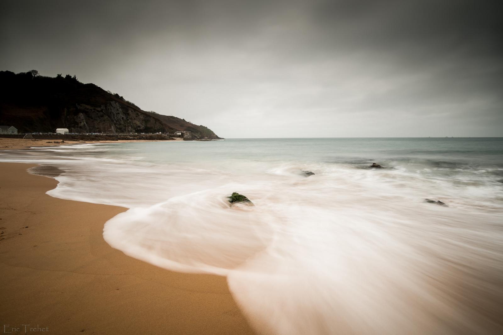 poselongue meer mer plage strand