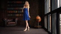 Wallpaper Alice Tarasenko Women Sergey Fat Blue Dress