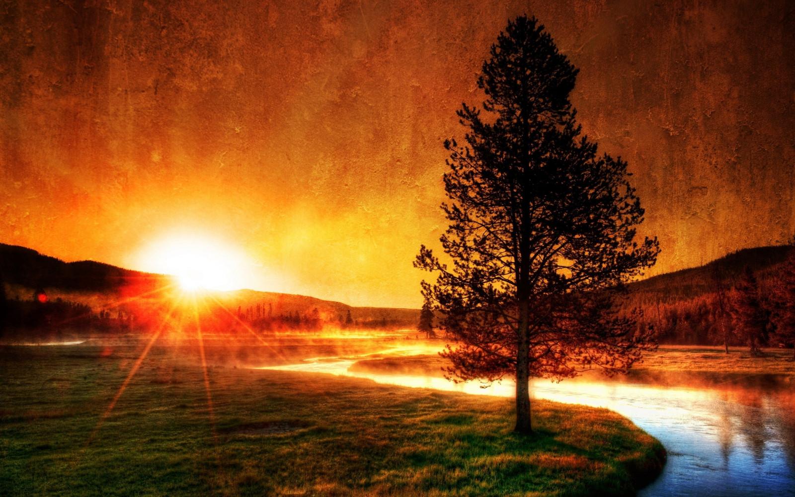 Sfondi  luce del sole paesaggio tramonto notte
