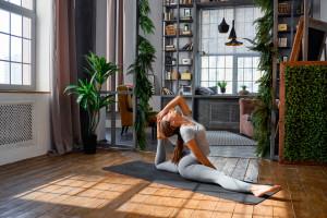 Yoga Pants Anime Girl Wallpaper Wallpaper Model Women Ponytail Yoga Pants Yoga Mat