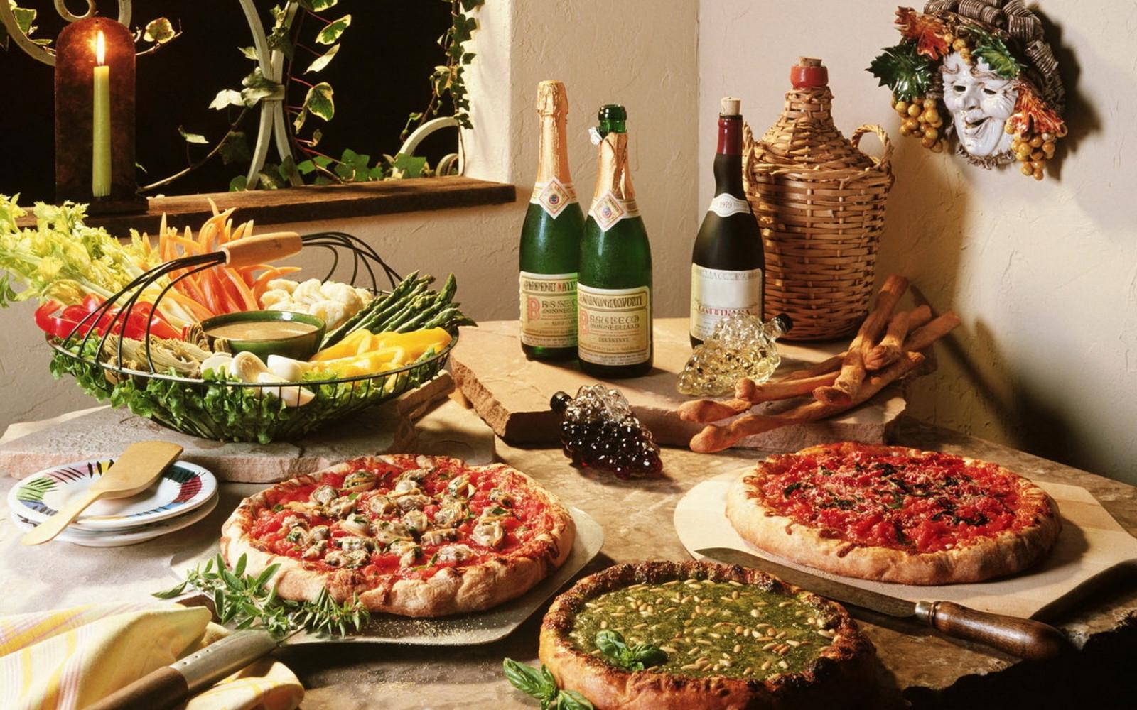 Fondos de pantalla  comida vino vegetales Pizza