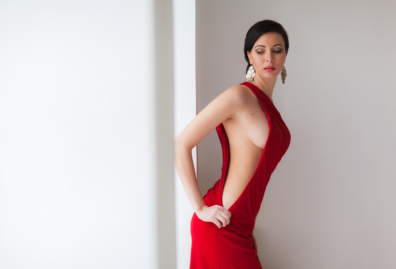 Hintergrundbilder  Frau Modell Portrt rot