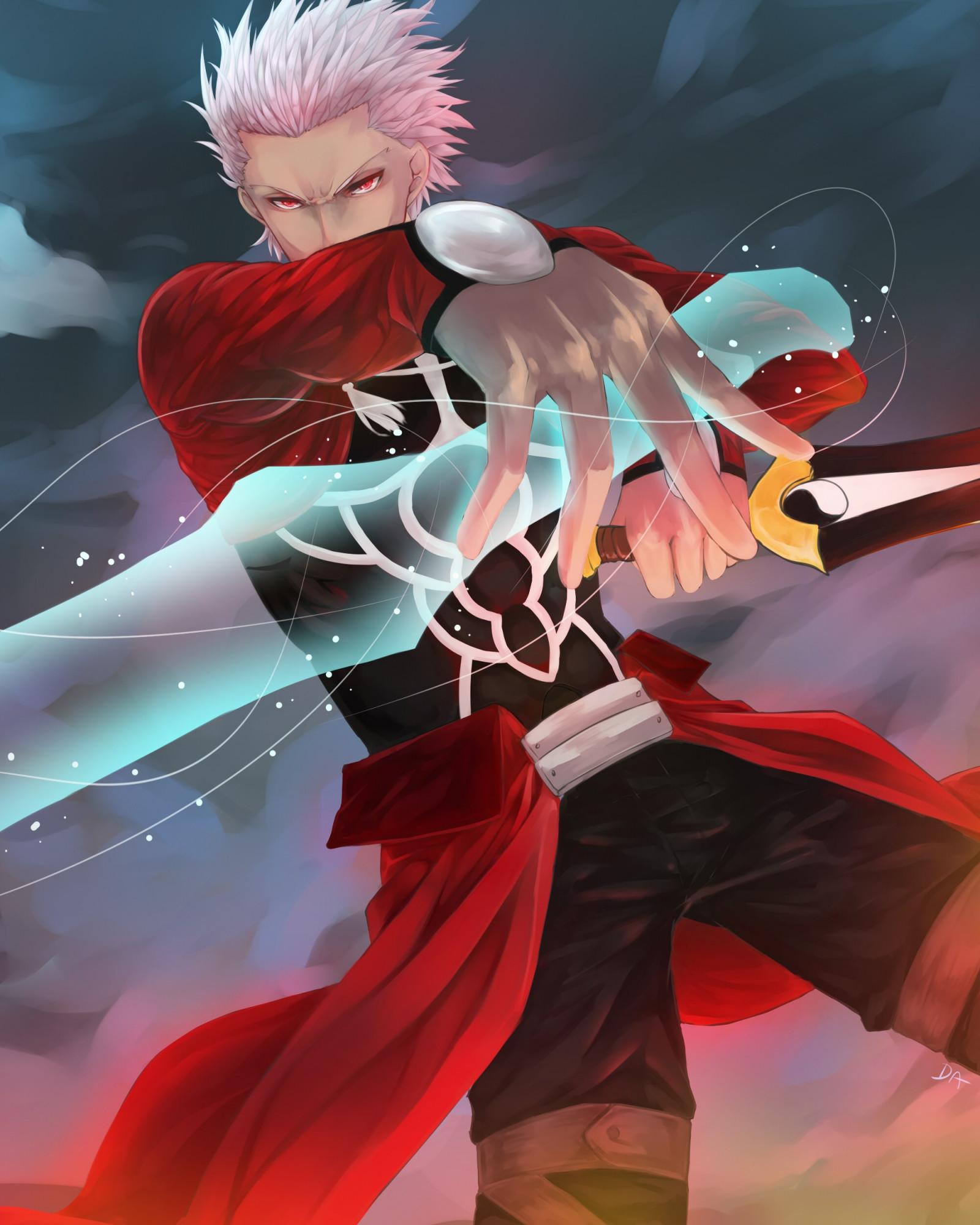 Wallpaper : digital art. Archer Fate Stay Night. Fate Stay Night. men. sword. red dress 2000x2500 - elcomandante81 - 1141180 - HD Wallpapers ...