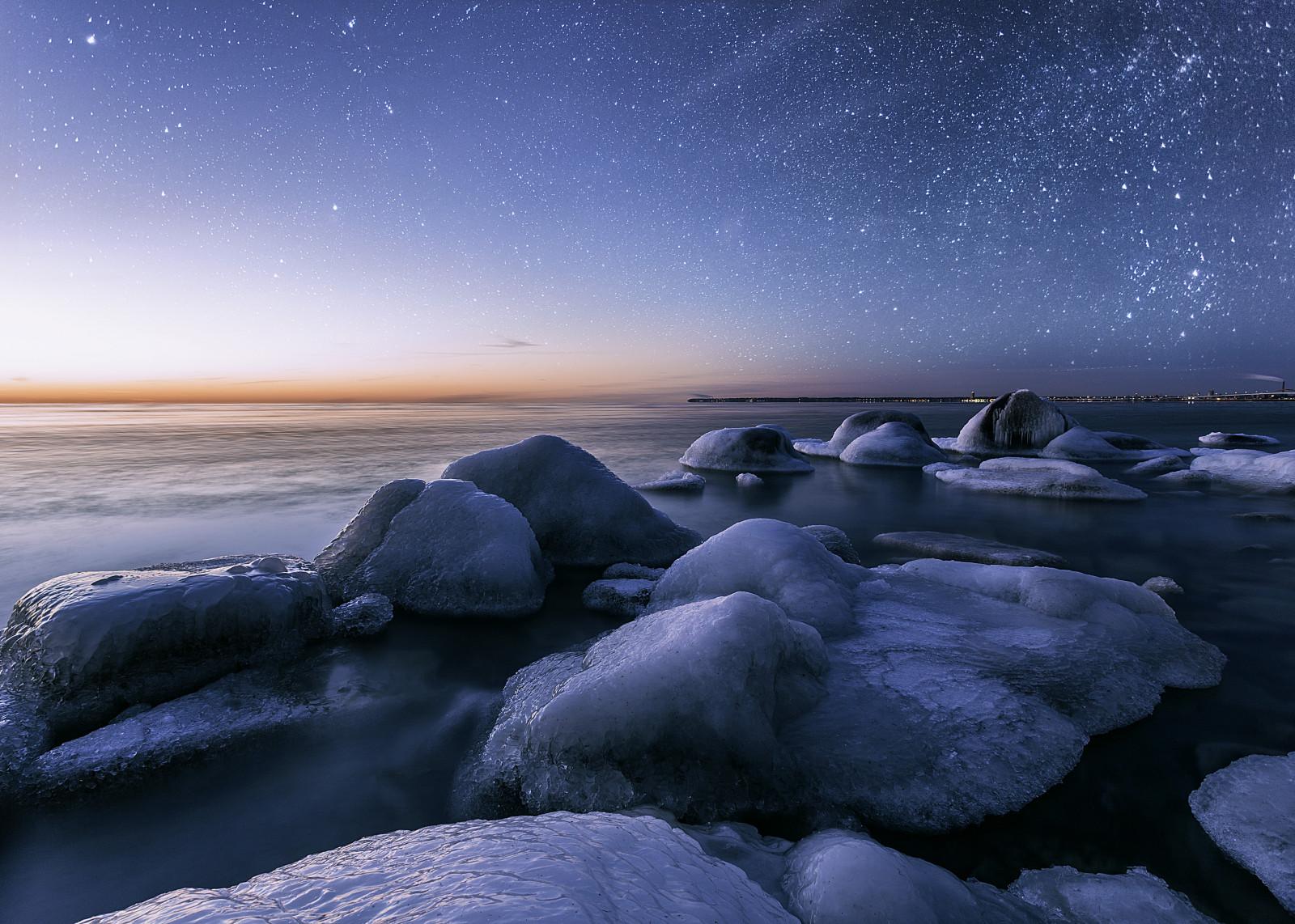 Sfondi  paesaggio mare notte acqua natura inverno