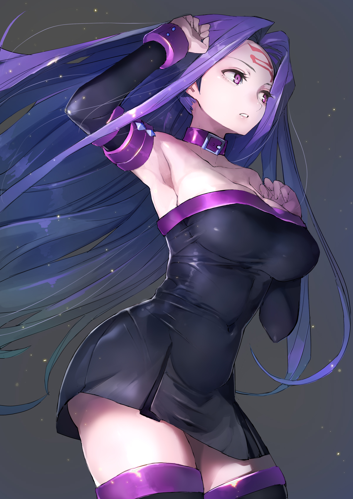 Fantasy Girl Hd Wallpaper Download Wallpaper Cleavage Dress Fate Stay Night Rider Fate