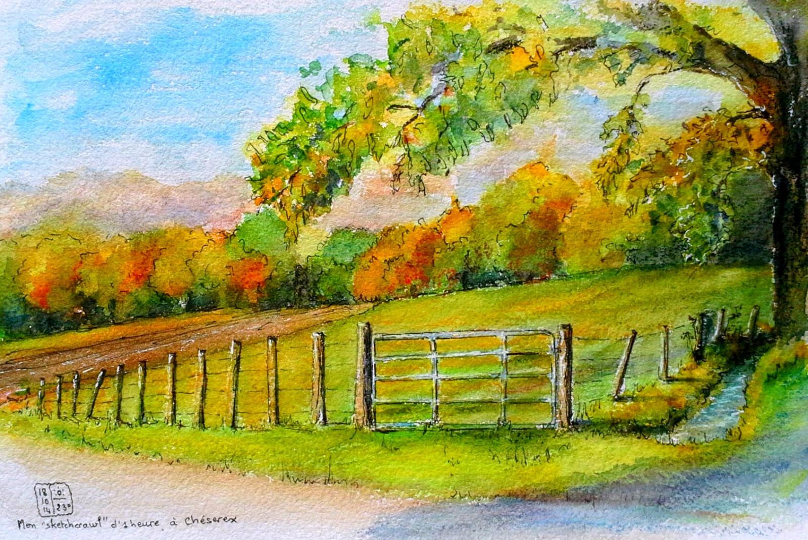 Sfondi  natura la pittura pittura ad acquerello albero