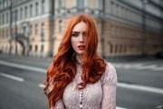 wallpaper women outdoors redhead