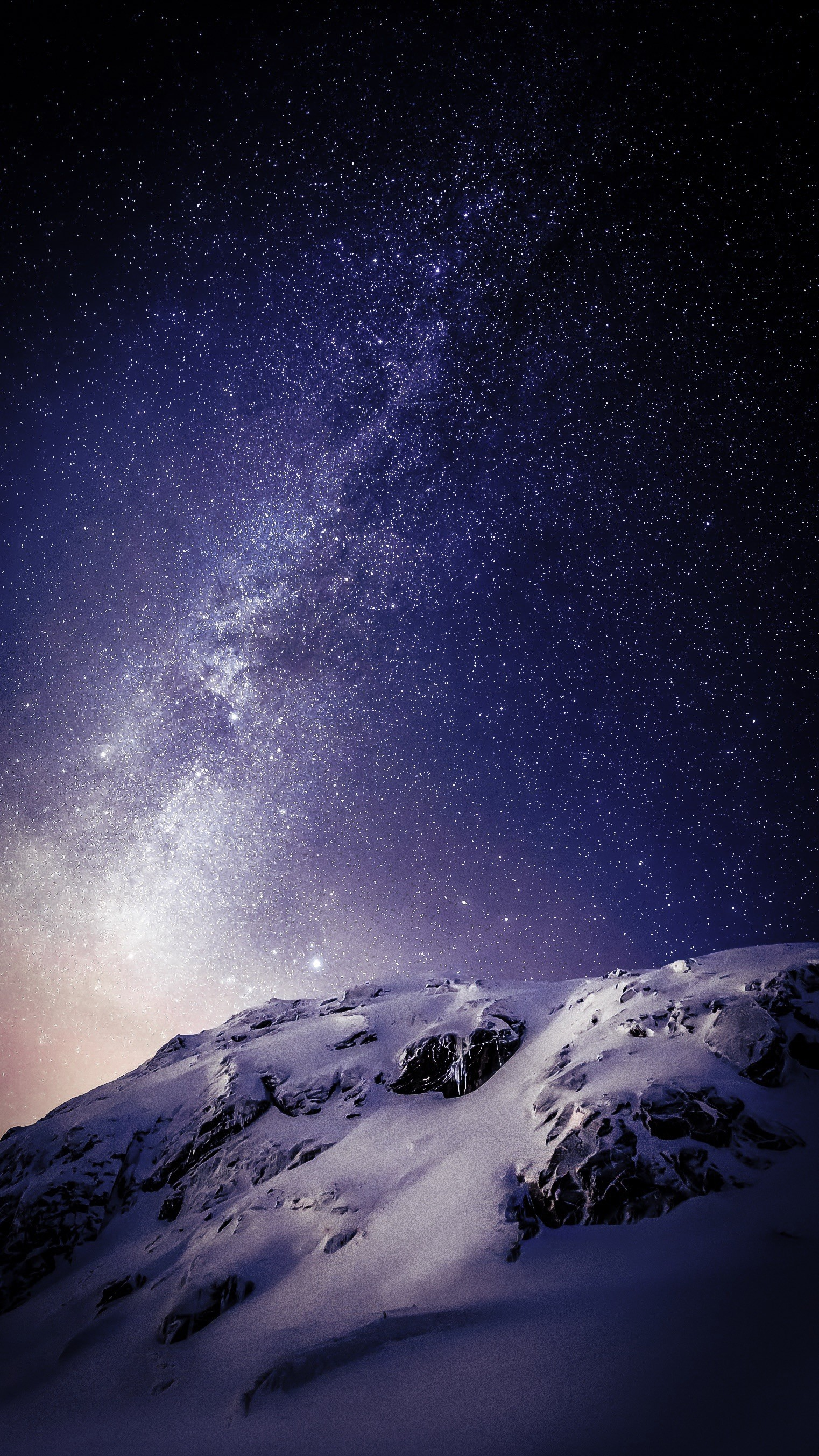 Wallpaper  landscape mountains night galaxy nature