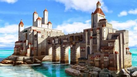 Fond d écran : Art fantastique mer Paysage urbain