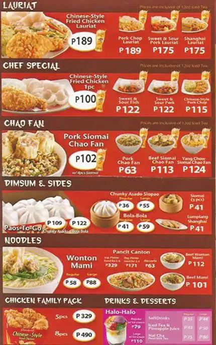 Bucket Jollibee Updated Meal Philippines
