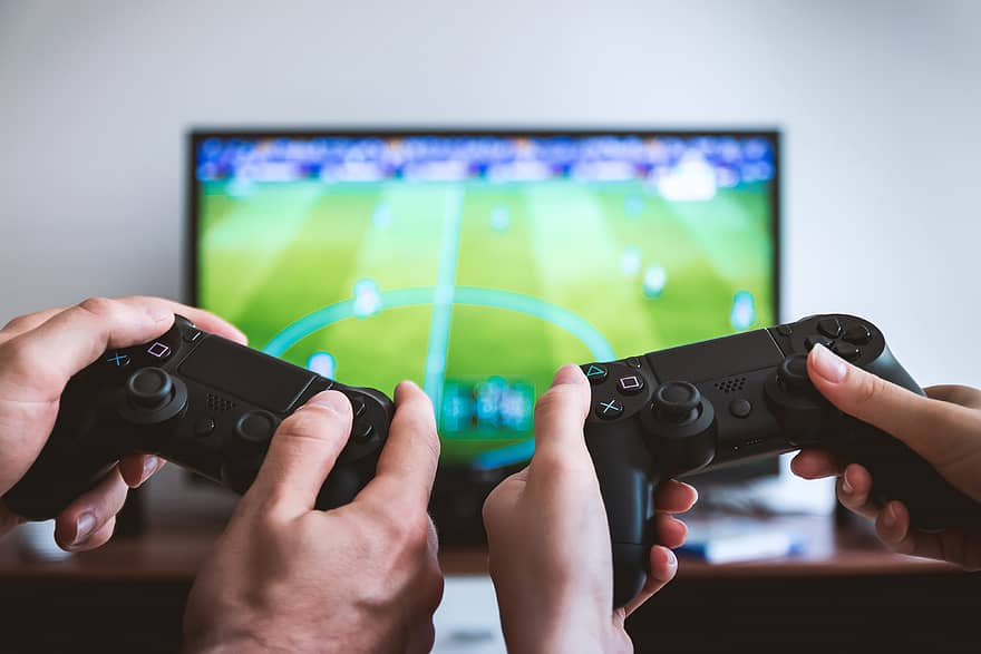 gamer football controllers gaming