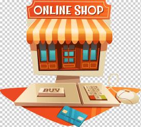 Cartoon house computer computer store online shopping cartoon house computer store png Klipartz