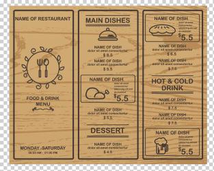 Cafe Menu graphy Wood Shading menu happy Birthday Vector Images business restaurant Menus png Klipartz