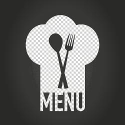 Menu logo illustration Menu Cook Restaurant Recipe Menu cover design food text logo png Klipartz