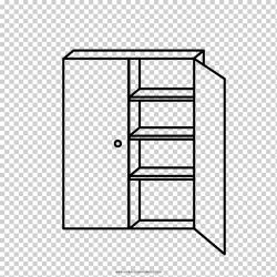 Estantería dibujo armarios y guardarropas libro para colorear armario ángulo cocina mueble png Klipartz