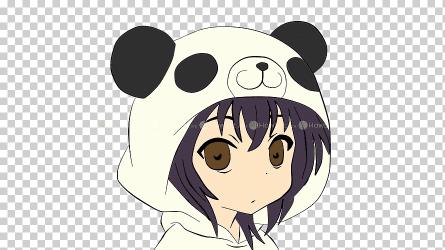 Giant panda Drawing Chibi Anime Chibi mammal face carnivoran png Klipartz