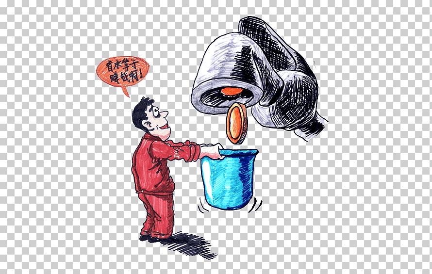 cartoon water conservation illustration