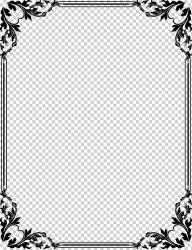 CorelDRAW Frames design border white leaf png Klipartz