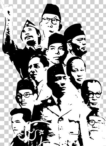 Bung Tomo Png : Grayscale, Illustration,, Battle, Surabaya, Heroes, Indonesia), Heroes', November,, Hero,, Surabaya,, Indonesia, Klipartz