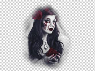 Gothic art Dark fantasy Fantastic art Vampire black Hair fictional Character goth Subculture png Klipartz
